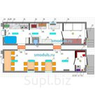 """""""BURAN-2"""" модуль для приема и приготовления пищи на 12 человек (2 модуля по 2,45х9м)"""